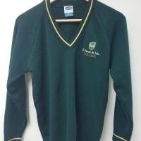 St Francis de Sales College green jumper size 2-4