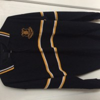 Glenunga woollen jumper, rugby jacket and boys charcoal pants