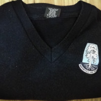 MHS V-neck jumper (size 14)